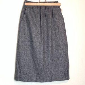 NWT Vintage Evan Picone Gray Wool Pencil Skirt